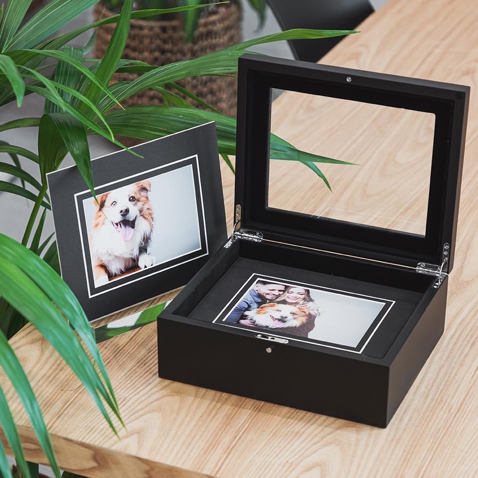 Glass Box Photo Album